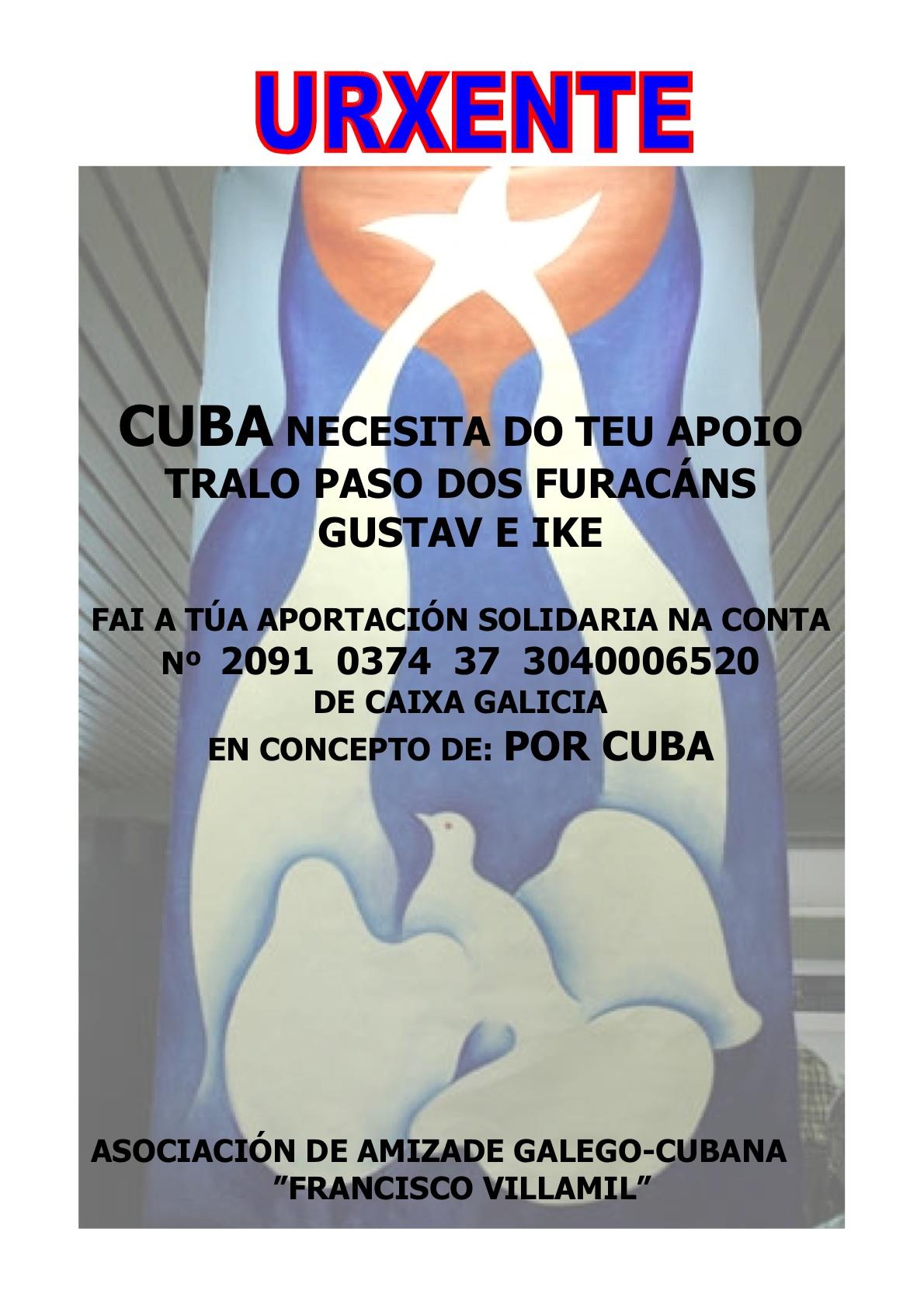 Campaña de doazóns por Cuba