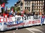 Manifestación solidaria con Cuba en Madrid