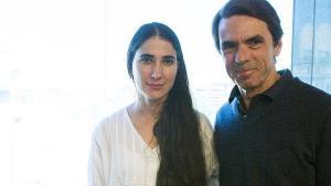 Jose Maria Aznar presenta en Madrid a Yoani Sánchez