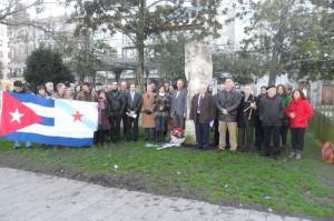 Homenaxe a Martí e aos Cinco en Vigo