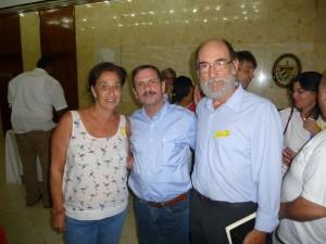 """Coral Prieto e Gustavo Luca, da """"Francisco Villamil"""", con Fernando Gonzalez Llort"""