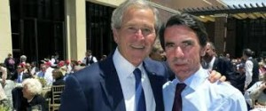 George Bush e José María Aznar no encontro das Azores