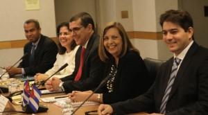 A delegación de Cuba, no inicio da terceira rolda de conversas en Washington