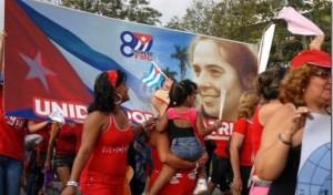 Co gallo do 55 aniversário da fundación da Federación de Mujeres Cubanas (FMC) a institución recibiu o premio Únete, ao compromiso coa igualdade e a non violéncia de xénero, instituido pola ONU