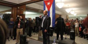 Gerardo Hernández agradece na súa intervención en Madrid  a solidariedade  cos Cinco.