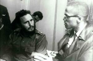 """""""Enquanto o Tio Sam está contra você, você é um bom homem"""", foi um comentário de Malcolm X a Fidel Castro em 19 de setembro de 1960, quando eles se reuniram no Hotel Theresa no Harlem, por única e histórica ocasião. Malcolm foi assasinado 21 de febreiro de 1965 em Washington Heights, aos 39 anos."""