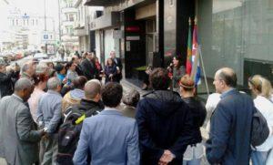 A embaixadora de Cuba en Lisboa recorda a Adriana Corcho Calleja e Efrén Montegudo Jiménez, diplomáticos que perderon a súa vida no atentado terrorista de 22 de abril de 1976.