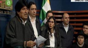 """""""Estamos diante de um complô permanente"""", alertou Morales em rolda de imprensa oferecida no Palácio do Governo."""