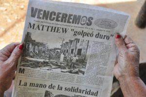 A radio, a prensa escrita e a TV cubanas deron, superaron todos os retos do esmagador furacán.