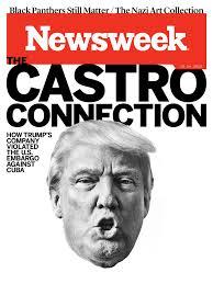 Newsweek revela o dobre xogo Trump con Cuba e ao candidato republicano fáltalle tempo para visitar  Miami disfrazado de George W. Bush.