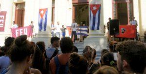 Os primeiros atos de denuncia se realizaram na Universidade de Havana, a de Ciências da Informática (UCI) e na Cidade Universitária José Antonio Echeverría (Cujae)